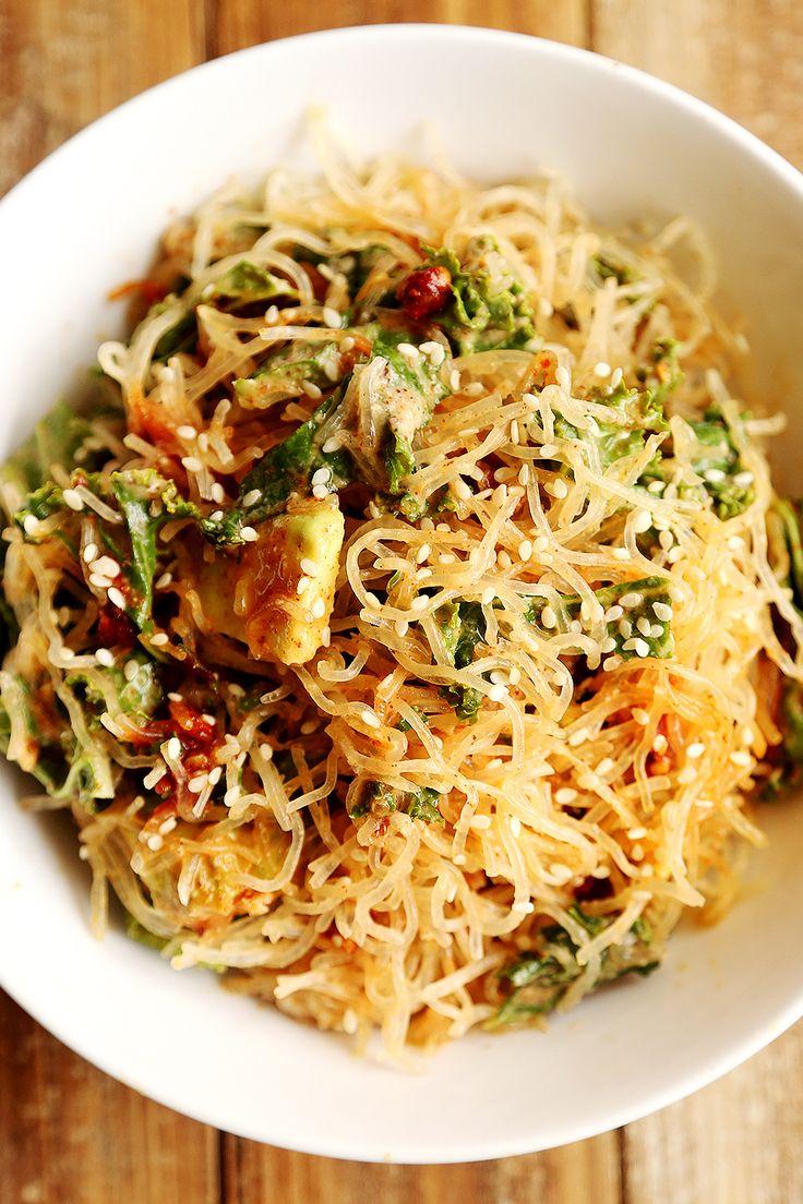 Raw_Kelp_Noodles_Kale_Garlic_Almond_Miso_Dressing_Recipe_004