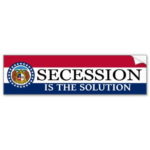 Missouri Secession Bumper Sticker