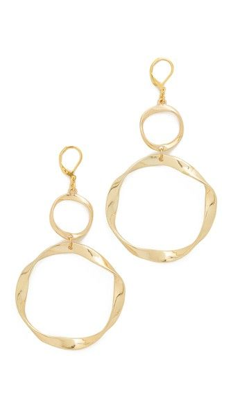 Kenneth Jay Lane Twisted Circle Earrings