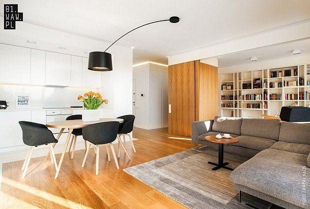 Mieszkanie w Warszawie z ukrytym gabinetem