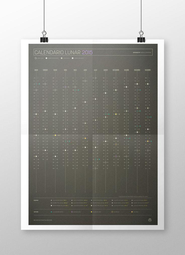 Calendario conceptual (anual - lunar) 2015 on Behance