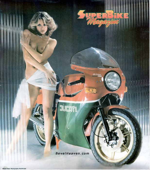 Motorcycle sexy ads ducati