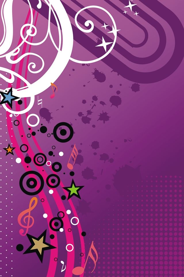 Magnificence Girly Music Vector