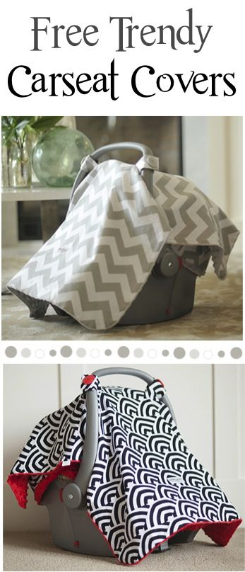 FREE Trendy Carseat Canopy! {just pay s/h} ~ these make such cute Baby Shower gifts, too! #babies #carseatcanopy #thefrugalgirls