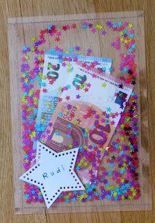 Geldverpackung als Schüttelkarte.