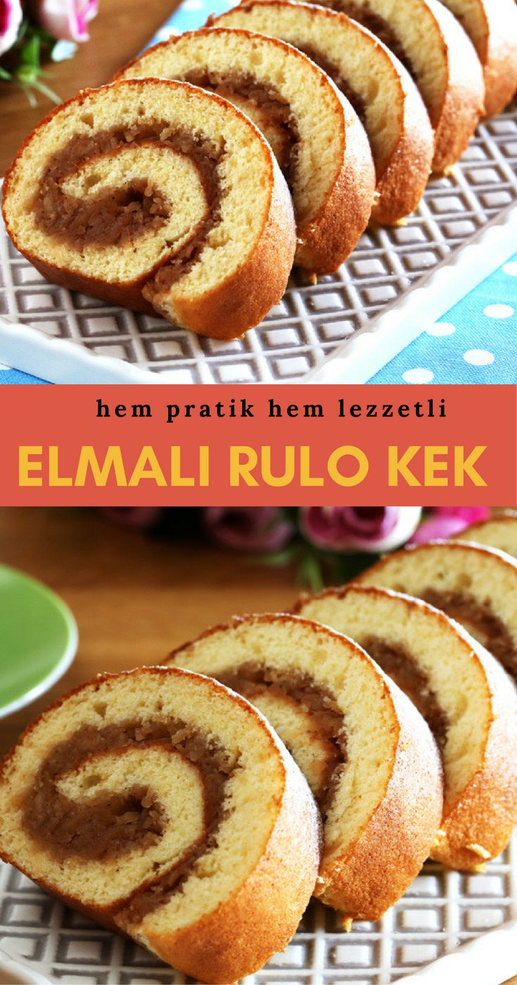 Elmalı Rulo Kek #elmalırulokek #kektarifleri  #nefisyemektarifleri #yemektarifleri #tarifsunum #lezzetlitarifler #lezzet #sunum #sunumönemlidir #tarif #yemek #food #yummy