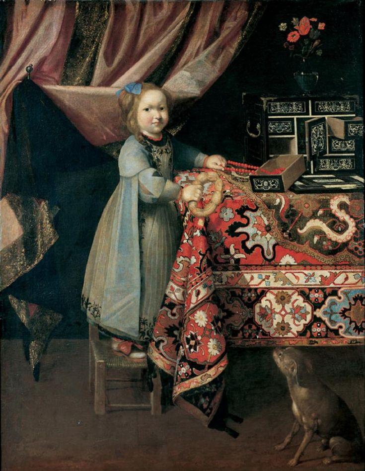 Sebastian Stoskopff, MÄDCHEN MIT HUND UND BREZEL., Auktion 846 Alte Kunst, Lot 1145