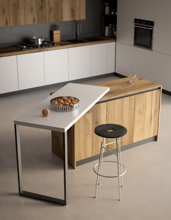 Sestante Rotating Countertop Extension Frame Only Kitchen Interior Kitchen Design Small Kitchen Bar Table