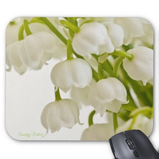 White Lilies Mouse Pad