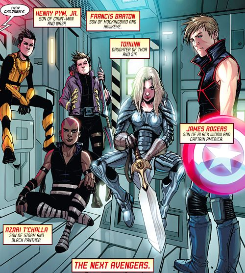Can we talk about the fact that Natasha and Steve's son is named after Bucky, and that Thor ans Sif's daughter looks incredibly badass Avengers World #9 << woah