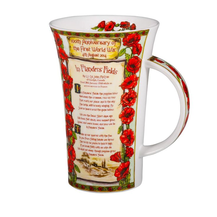 Commemorate the 100th anniversary of the outbreak of the First World War with this special mug.  Made by skilled craftsmen in the heart of the potteries in Staffordshire using traditional methods the mug is a moving tribute to the hundreds of thousands of men who died for their country between 4th August 1914 and 11th November 1918.