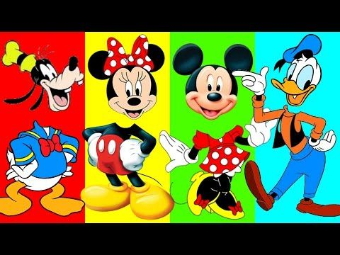 Disney Mickey Mouse Clubhouse Wrong Heads Finger Family Nursery Rhymes Fun Animation Video for Kids - YouTube