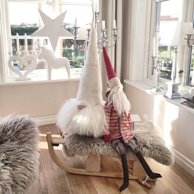 Tomtenisse • Maileg •  Skandinavisk Jul • Scandinavian Christmas • Lantliv i vitt •