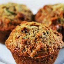 Zucchini Muffins. Would leave out raisins.