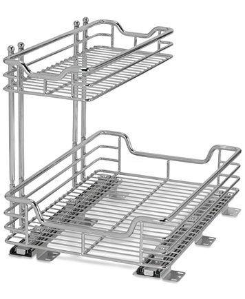 Household Essentials Chrome 2-Tier Glidez Sliding Under-Sink Organizer | macys.com