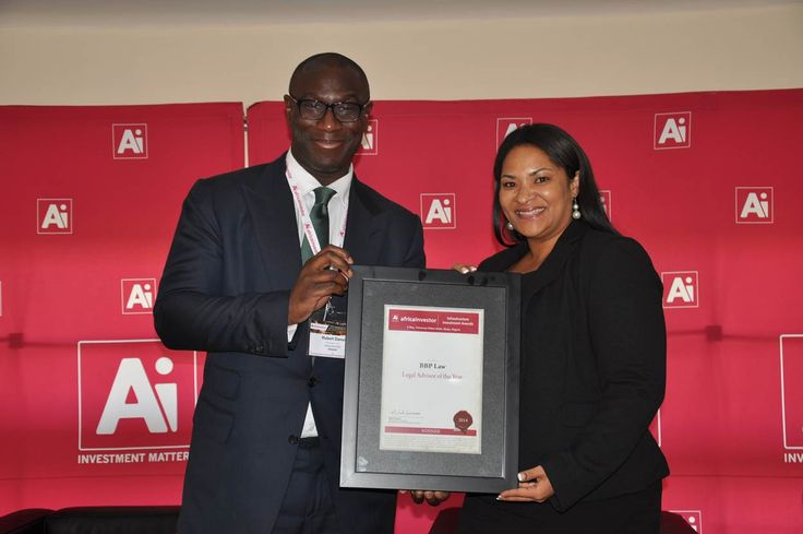 BBP Law WINNERS of the Africa investor (Ai) Legal Advisor of the Year Award 2014 - May 2014  Winners of the 2014 Africa investor Infrastructure Investment Awards announced at the Ai Infrastructure Investment Summit in Nigeria.