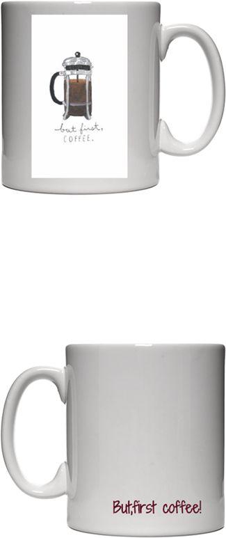 Kahve Sevenler İçin Kupa Bardak- Ama önce kahve - but first coffee! Kendin Tasarla - Beyaz Kupa