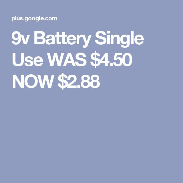 9v Battery Single Use WAS $4.50 NOW $2.88