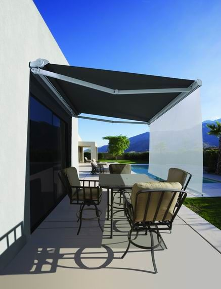 Folding Arm Awnings - The LUXAFLEX® Ventura Awning is the entry level folding arm awning system with no hood as standard, ideal for fitting under an eave.