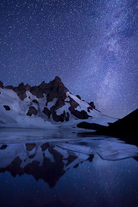 Blue Sky at Night, Thee Sisters Wilderness, Oregon