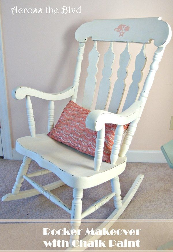 Fresh Makeover to An Old Rocking Chair