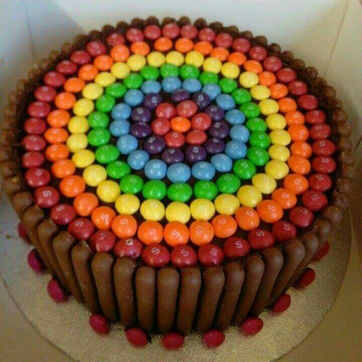 Rainbow Cadbury fingers cake