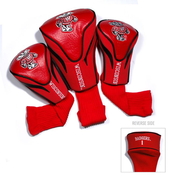 Wisconsin Badgers 3 Pack Contour Head Covers
