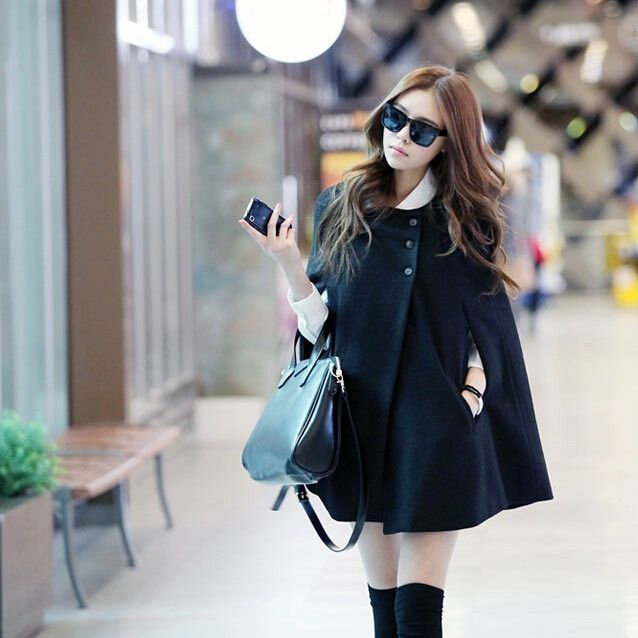 "Lovely black coat. Want it? Get it now! Use code ""hollow"" and get 10% off your entire order! – www.sanrense.com"
