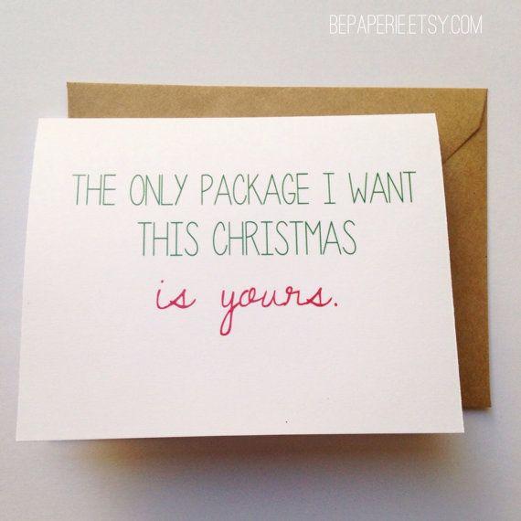 Naughty Christmas Card / Funny Holiday Card / Christmas Gift for Spouse / Humor card