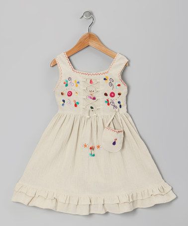 This Beige Lily Dress - Toddler & Girls by Little Cotton Dress is perfect! #zulilyfinds