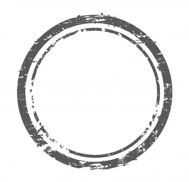 Grunge Distressed Stamp Circle Logo Design Stamp Brain Icon