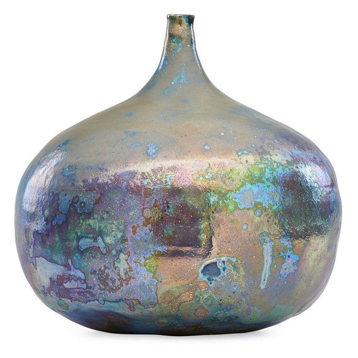 "BEATRICE WOOD (1893 - 1998) Large vessel, iridescent glaze, Ojai, CA Signed BEATO 10"" x 9"""