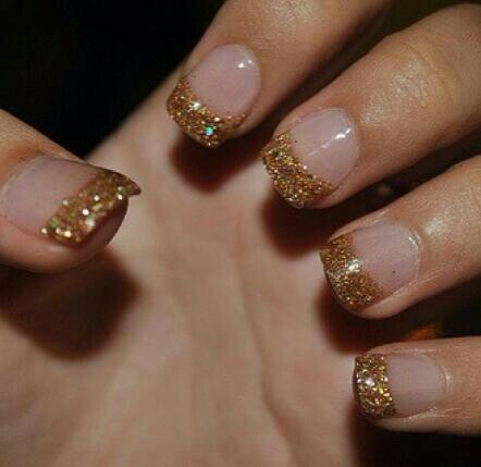gold tip nails nails pinterest beautiful gold tip