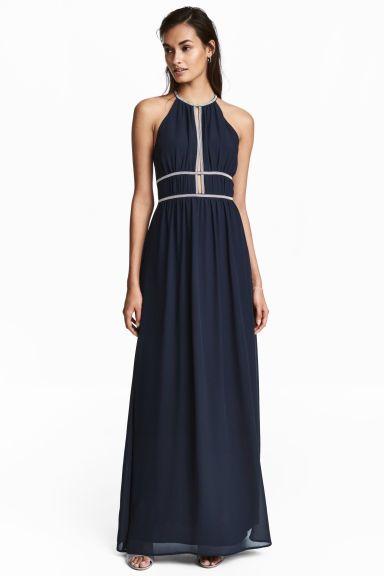 Long dress - Dark blue - Ladies | H&M 1