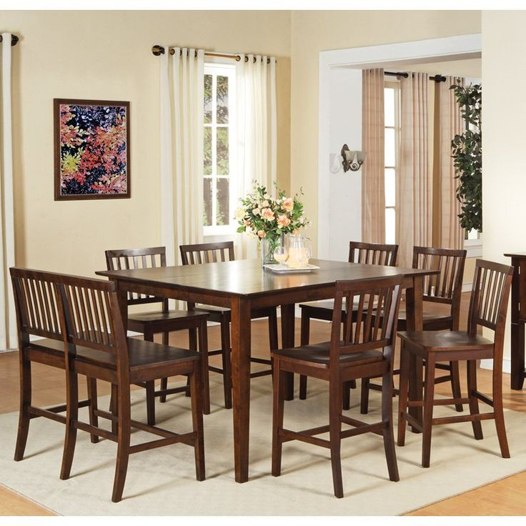 steve silver branson 8 piece counter height dining table set with