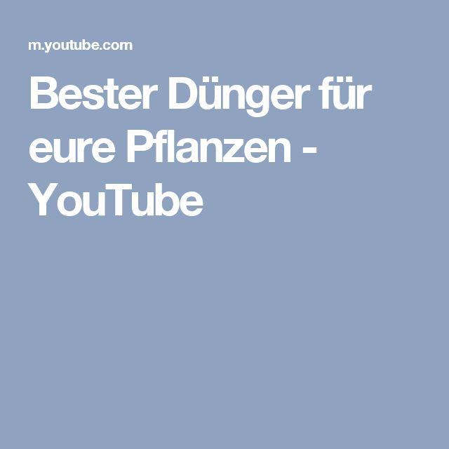 Bester Dünger für eure Pflanzen - YouTube