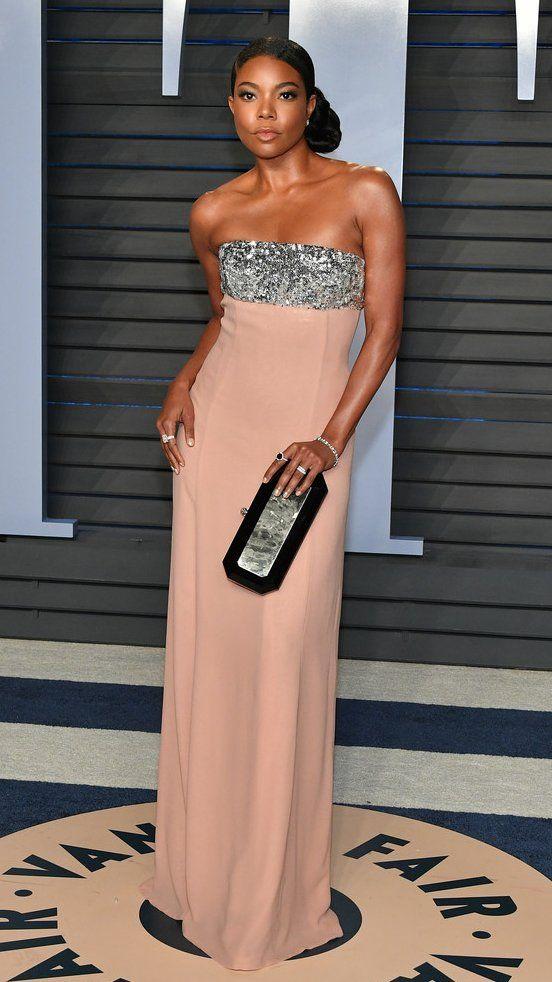 Gabrielle Union attends the 2018 Vanity Fair Oscar Party. #bestdressed