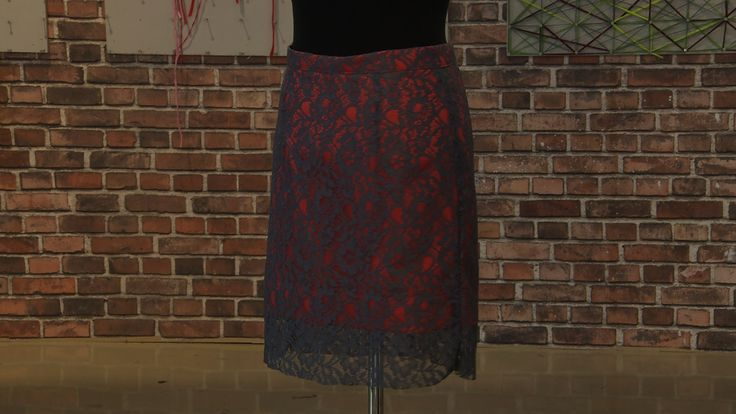"""Finale. Det store symesterskapet  nrk 1 2014  Unfinished lace skirt Episode 6  Finale in The Norwegian version of """"The sewing bees"""" 2014  place 3/3"""