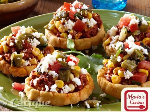 Grilled Corn Chorizo Sopes with Queso Fresco | Mexican Cheese | Cacique Inc. | Authentic Mexican Cheese