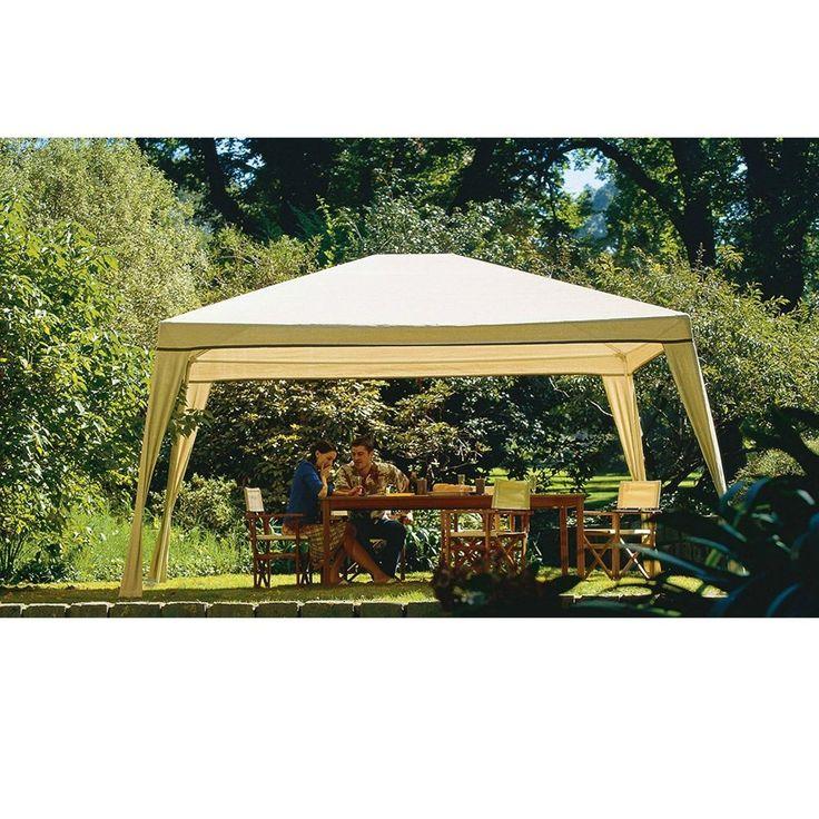 Kiosk Outdoor Sunshade Garden Gazebo Easy to Clean Waterproof Pavilion 10 x 12 #KioskOutdoorSunshade