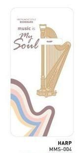 Cute Kawaii Musical Instruments - Metal Bookmark Paper Clip - Great Student Gift!