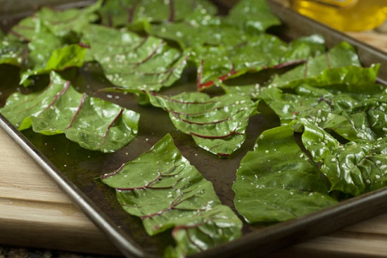 Swiss Chard Chips - Yes please. Made these tonight and they are delightful.