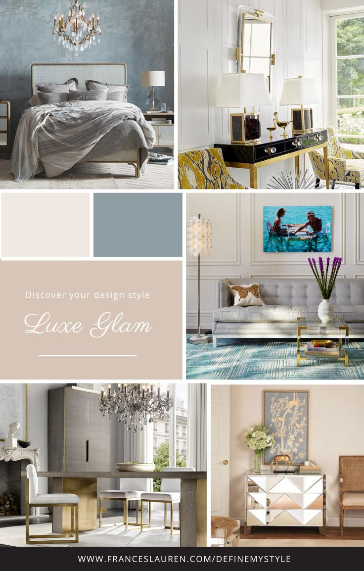 Luxe Glam style Interior Design Take our