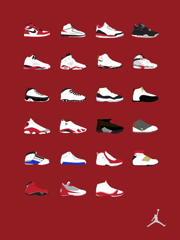 Air Jordan Timeline and Posters by Nico Mojica, via Behance