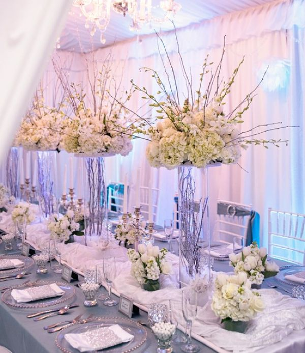 Crystal And White Wedding Theme: The Bigger The Better Images On
