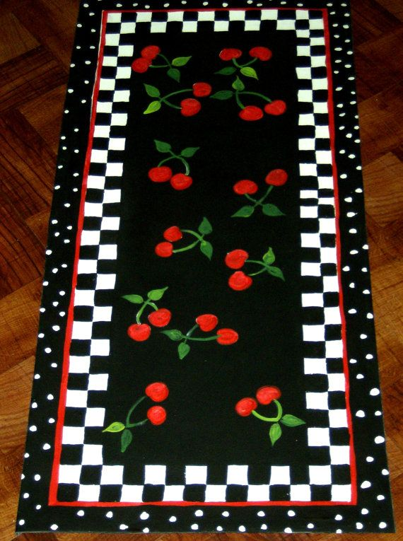 FLOORCLOTH hand painted COTTAGE SHABBY / by countryfloorcloths, $99.95