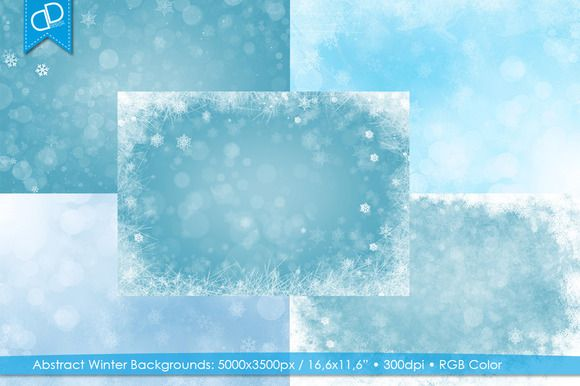 Abstract Winter Background by cDDesign on Creative Market