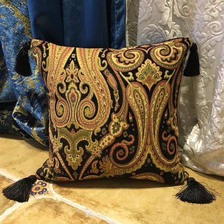 Cheap cushion cover, Buy Quality cushion pillow case cover directly from China pillow cushion covers Suppliers: 2017 Vintage Traditional Paisley Chenille Cushion Cover Tassels Pillow Case Decorative Sofa Armchair Home Pillow Cover 45x45 cm