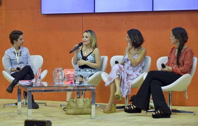 Larissa Manuela, Thalita Rebouças e Ingrid Guimarães falam sobre adaptação do livro ' Fala Sério, Mãe!' na arena #SemFiltro