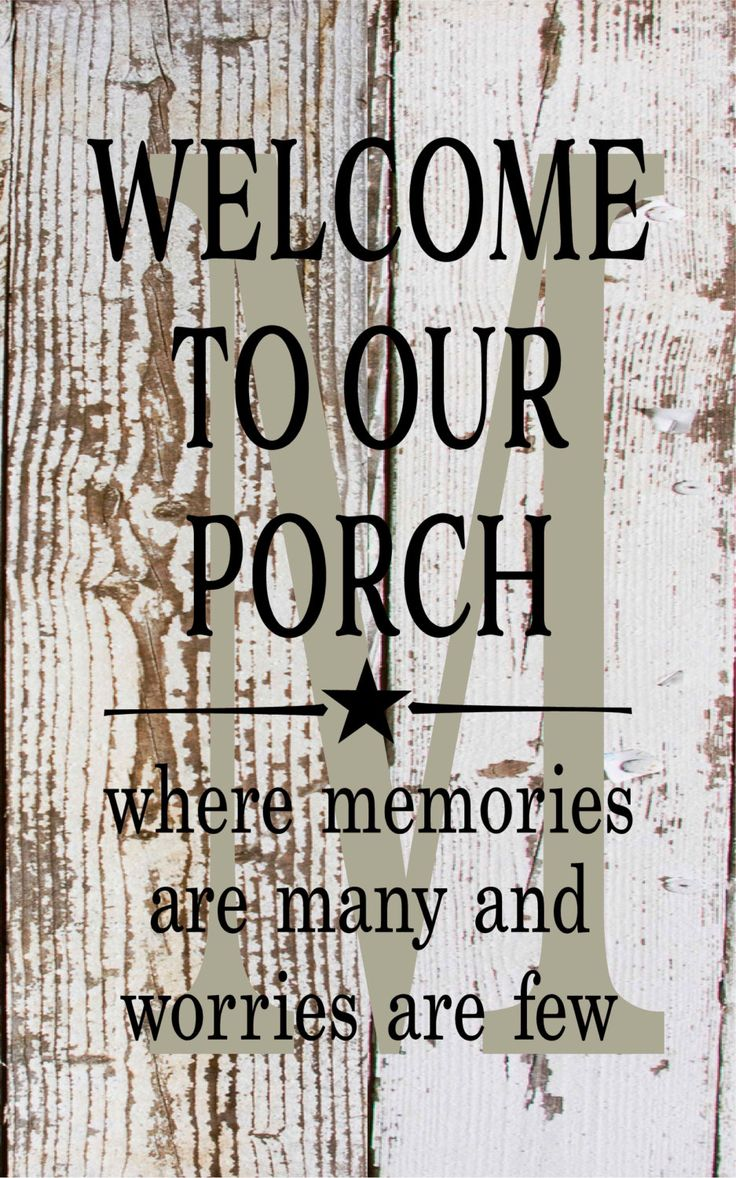 Initial sign monogram welcome to our porch where memories are many metal sign porch decor